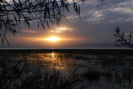 Lake Hawassa bei Sonnenuntergang