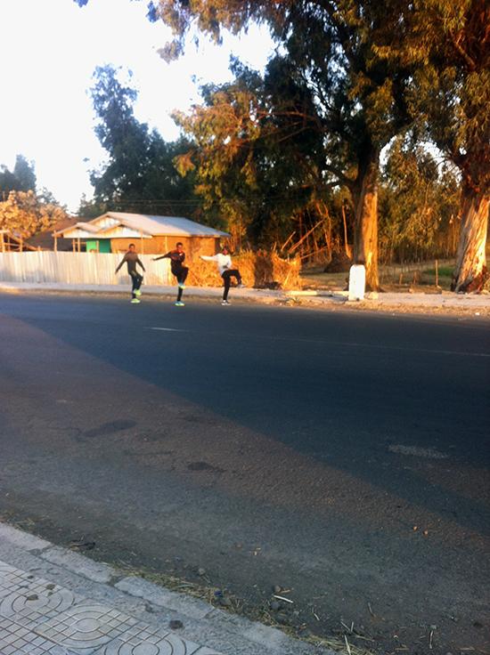 Äthiopische Elite Läufer beim Training