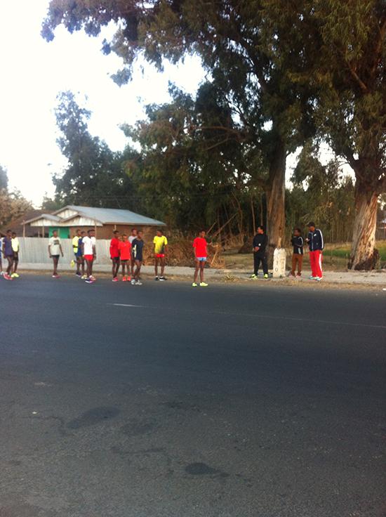 Lauftraining der Jungs in Äthiopien