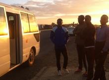 Vor dem Lauftraining der Elite Athleten in Äthiopien