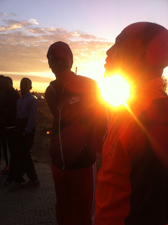 Lauftraining Frühmorgens in Addis